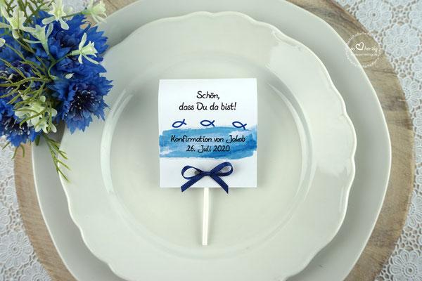 Lutscher Design Aquarellband/Fische Royalblau