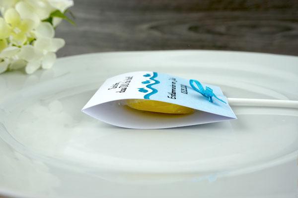 Lutscher Design Fische - Seitenansicht