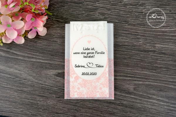Freudentränen Taschentücher Design Romantik Puderrosa