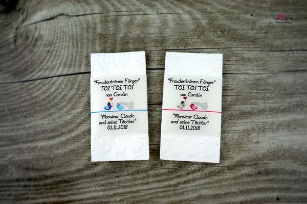 Freudentränen Taschentücher für ein Theaterstück - Sonderanfertigung