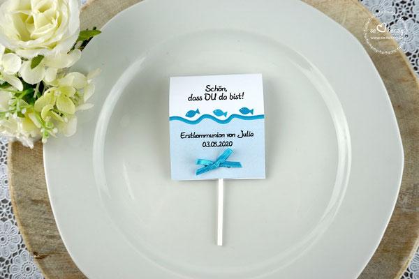 Lutscher Design Fische Farbe Türkis