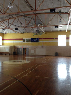 The gym looks like it could still host a game.