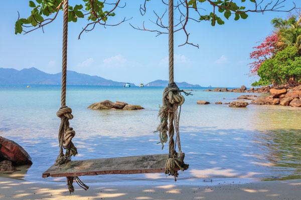 Beliebte Strände auf der Insel Koh Chang im Golf von Thailand