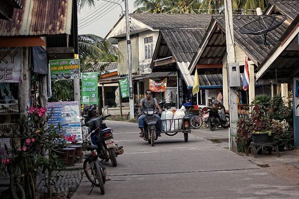 Einkaufsstraße auf der Insel