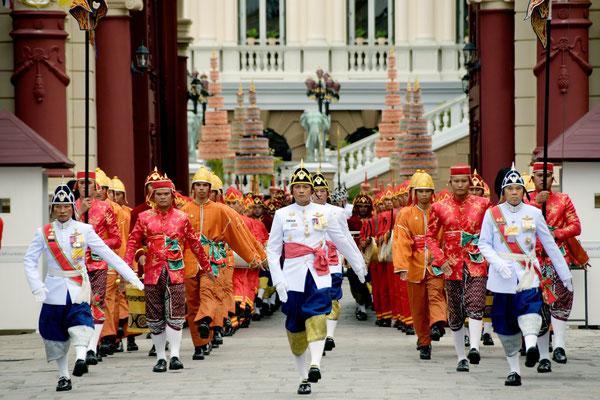 Eine beeindruckende Zeremonie im Königspalast in Bangkok