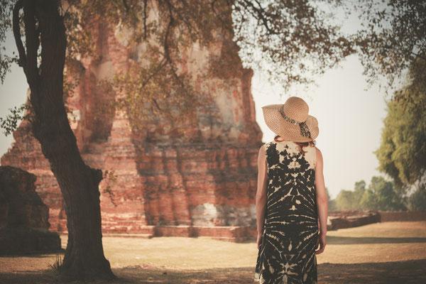 Erforschung antiker Ruinen in Ayutthaya