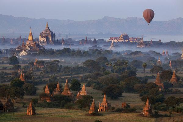 Archäologische Zone - Bagan in Myanmar