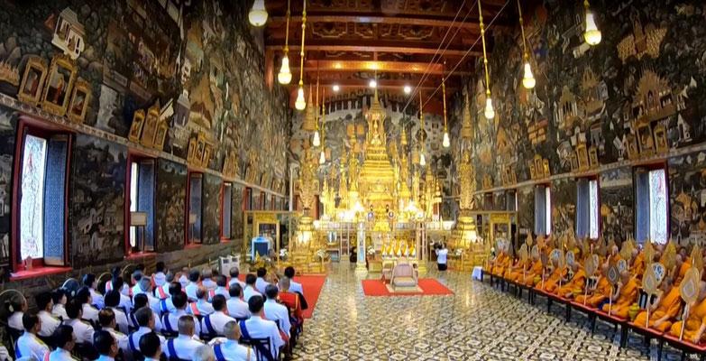 Zeremonie des thailändischen König Vajiralongkorn Rama X