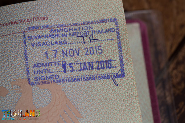 Passstempel - Visa on Arrival Thailand