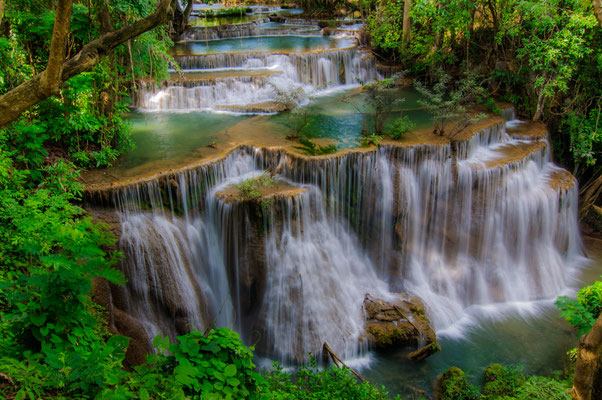 Huay Mae Kamin Wasserfall Nationalpark Kanchanaburi