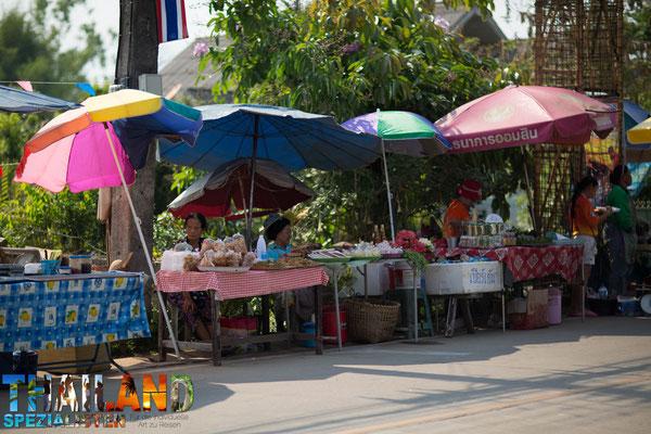 Marktstände in Chiang Khong
