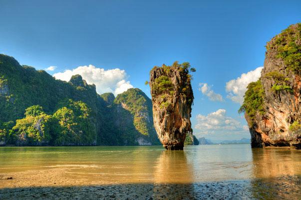 Blick auf Ko Tapu-Insel in der Nähe von Phuket