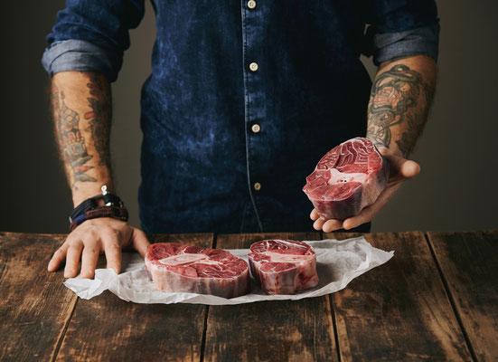 Bestes Rindfleisch von Gras gefüttertem Vieh aus Australien.