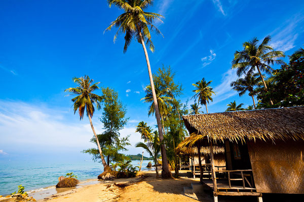 Traumstrände mit Cocospalmen auf Koh Chang