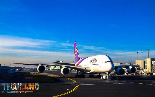 Thai Airways Airbus a380 am Flughafen Frankfurt am Main