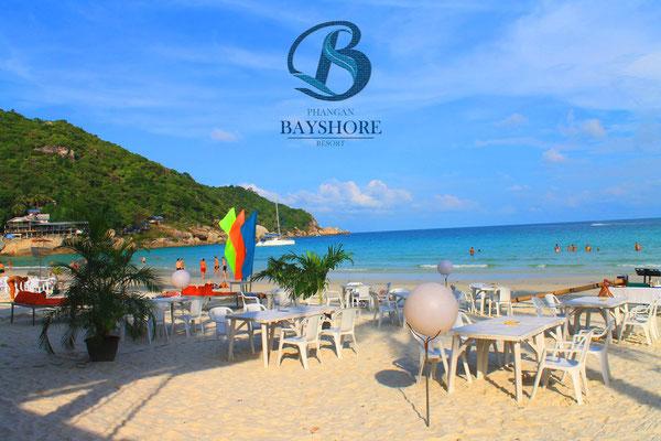 Der Strand vom Phangan Bayshore Resort auf Koh Phangan