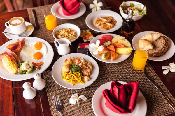 Das Frühstück im Coco Palm Beach Resort - Jedenfalls ein Teil davon.