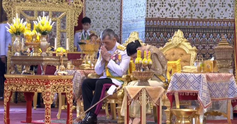 Zeremonie des thailändischen König Vajiralongkorn Rama X in Bangkok