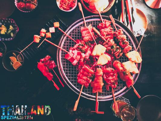 leckeres BBQ japanisch in Thailand