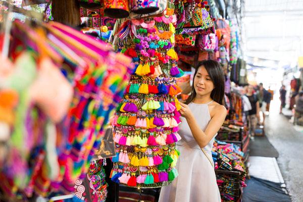 Shopping auf den zahlreichen Märkten
