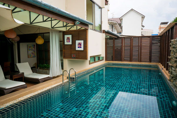 Sauberes City-Hotel in Chiang Mai, mit Pool.