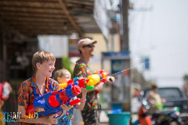Wasserfest in Thailand