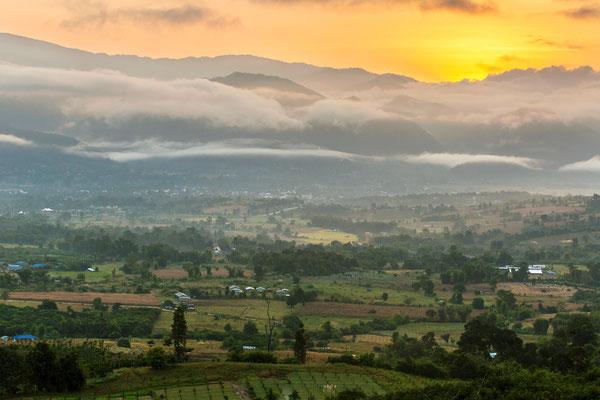 Sonnenuntergang in Pai