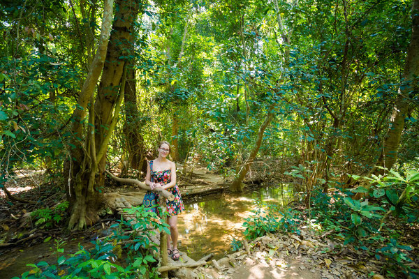 Trekkingtour im Regenwald