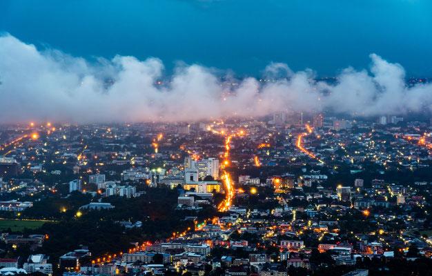 Chiang Mai Altstadt mit Langzeitbelichtung fotografiert