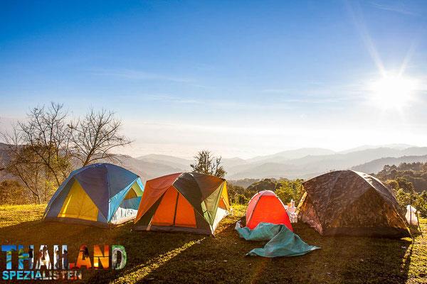 Camping in den Bergen von Chiang Mai