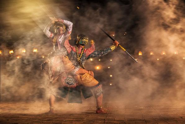 Historische Show in Ayutthaya
