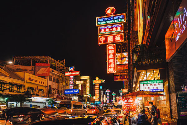 China Town in Bangkok bei Nacht