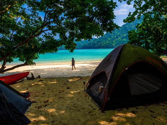 Surin Inseln - Zelten am Strand von Thailand