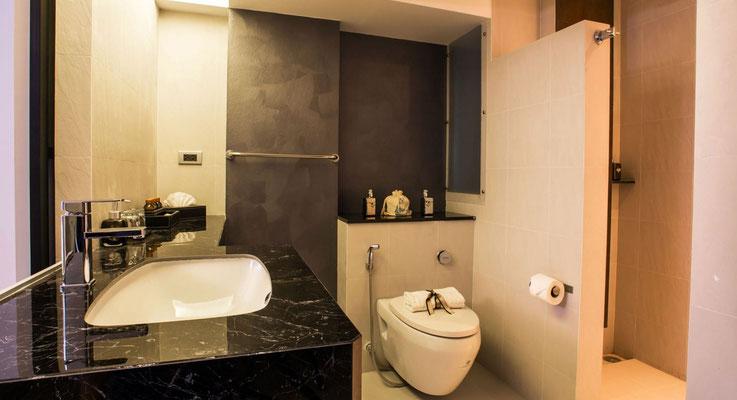 Badezimmer vom Hotel