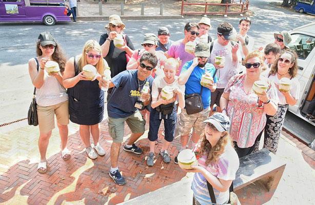 Gruppenbild währen der Blindenreise