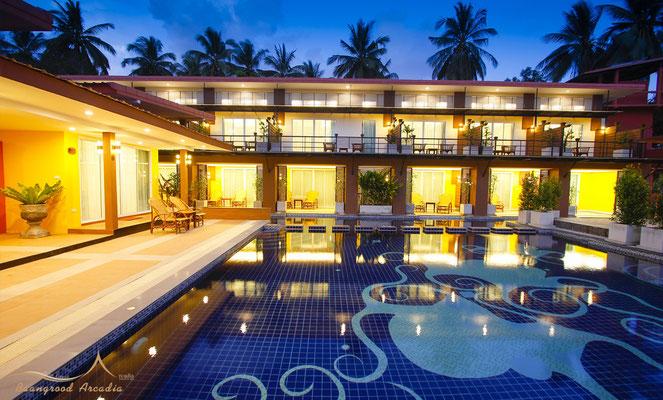 Grood Aracadia Resort Bankrut bei Nacht