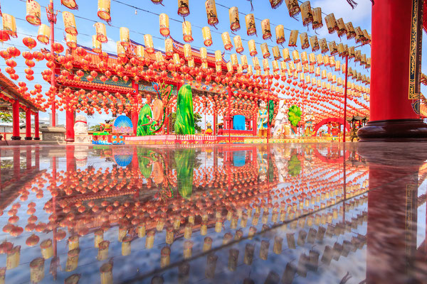 Tempel Dekoration Neuhjahrsfest