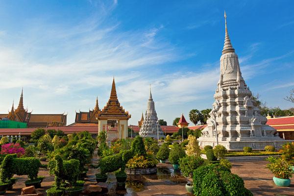 Der kambodschanische Königspalast ist eine große und wundervolle Anlage