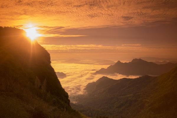 Phu Chi Fa Blick nach Laos