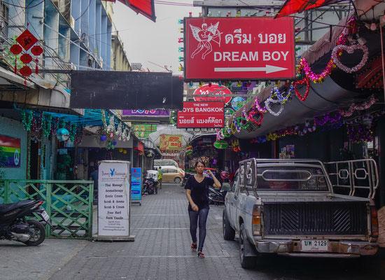 Gay Street Stadtteil Silom  in Bangkok