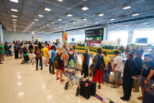 Suvarnabhumi Airport baggage claim area