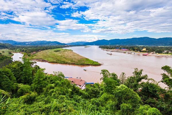 Goldene Dreieck Blick nach Myanmar und Laos