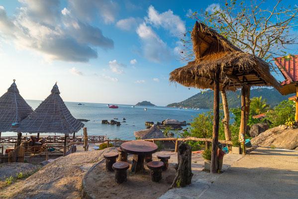 Von Samui Blick auf die Insel Koh Tao