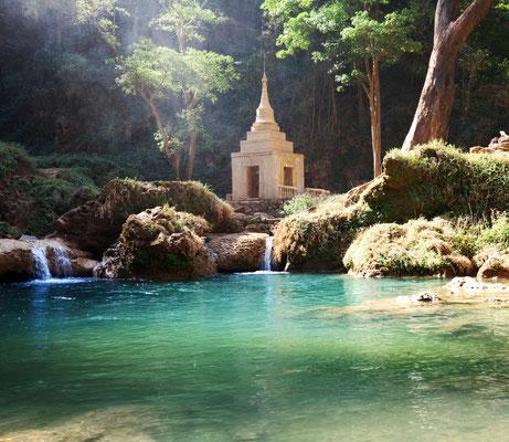 Kleine geheime sowie magische Orte im Dschungel von Myanmar