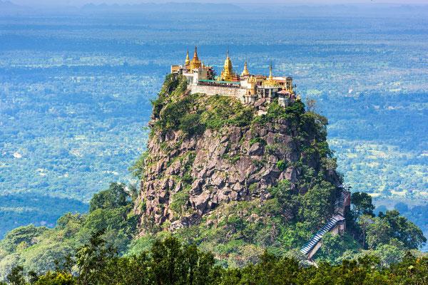 Mt. Popa in Myanmar ist eine ganz besondere Sehenswürdigkeit Myanmars