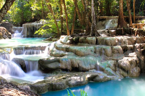 Erawan Wasserfall im Nationalpark
