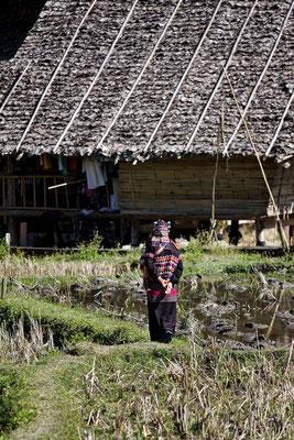 Ländliche Dörfer im hohen Norden Thailands