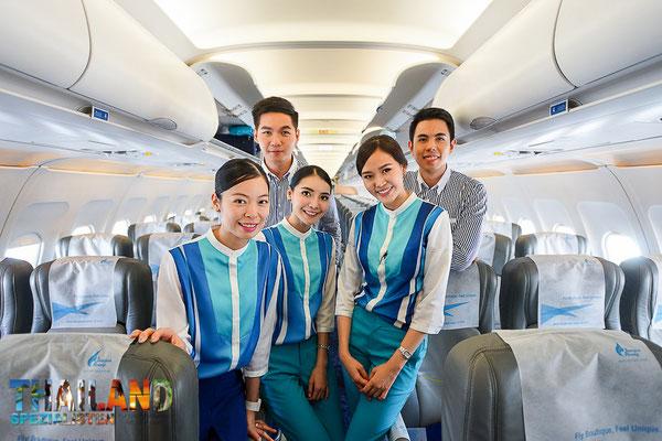 Crwe Mitglieder der Bangkok Airways
