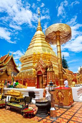 Goldene Chedi Wat Doi Suthep