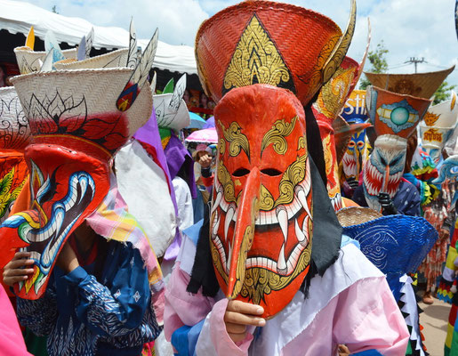 Phi Ta Khon Festival in der Provinz Loei